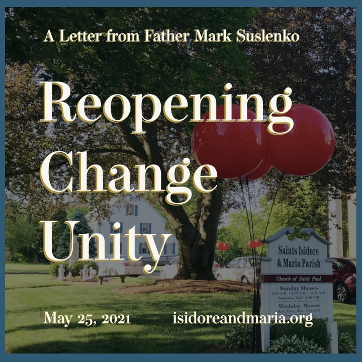 A reflection on reopening, change, and unity